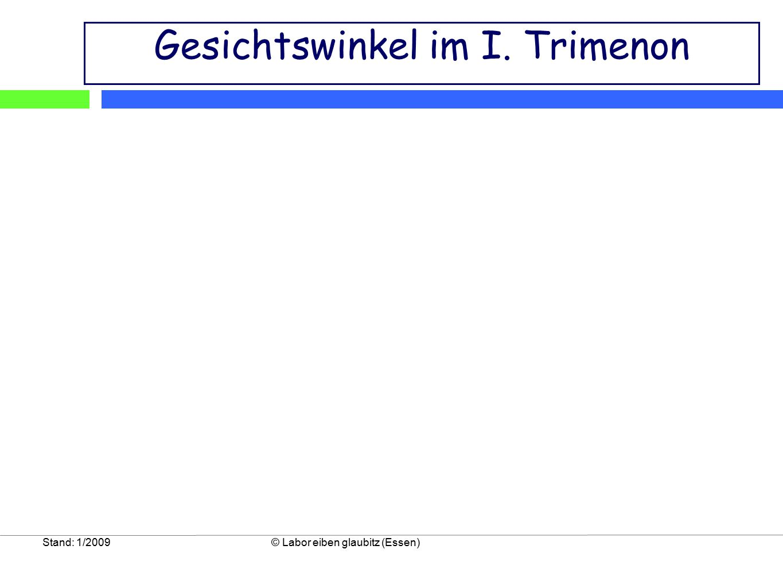 Stand: 1/2009© Labor eiben glaubitz (Essen) Gesichtswinkel im I. Trimenon