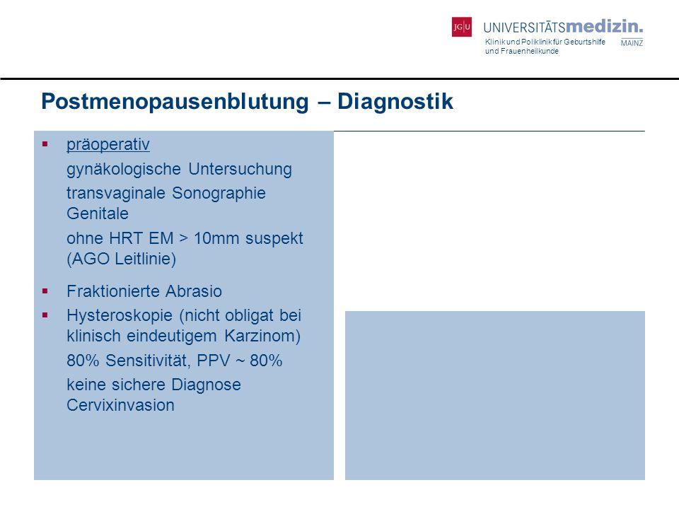 Klinik und Poliklinik für Geburtshilfe und Frauenheilkunde 39 Bildgebende Diagnostik  Ultraschall der Nieren  Rö-Thorax  ggf.