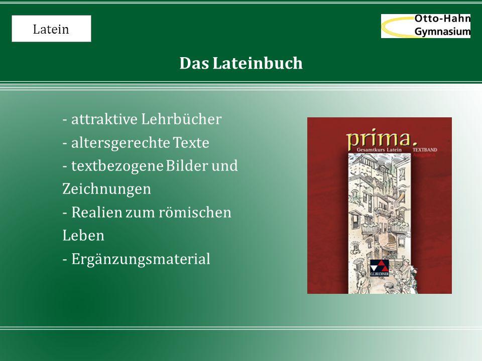 Latein Das Lateinbuch - attraktive Lehrbücher - altersgerechte Texte - textbezogene Bilder und Zeichnungen - Realien zum römischen Leben - Ergänzungsm