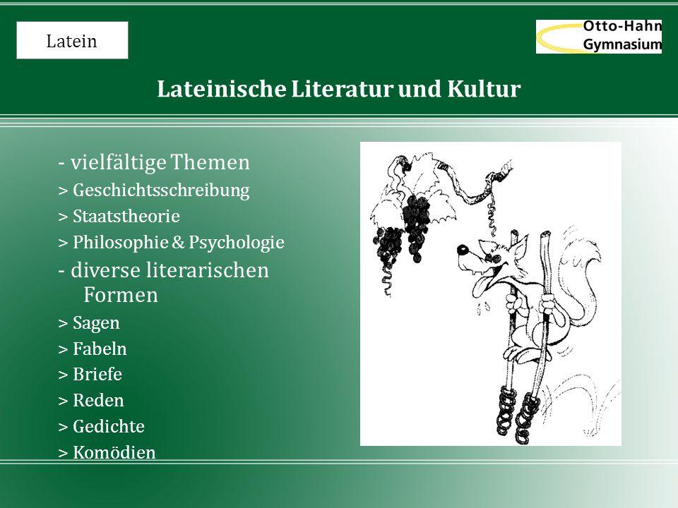 Latein Lateinische Literatur und Kultur - vielfältige Themen > Geschichtsschreibung > Staatstheorie > Philosophie & Psychologie - diverse literarische