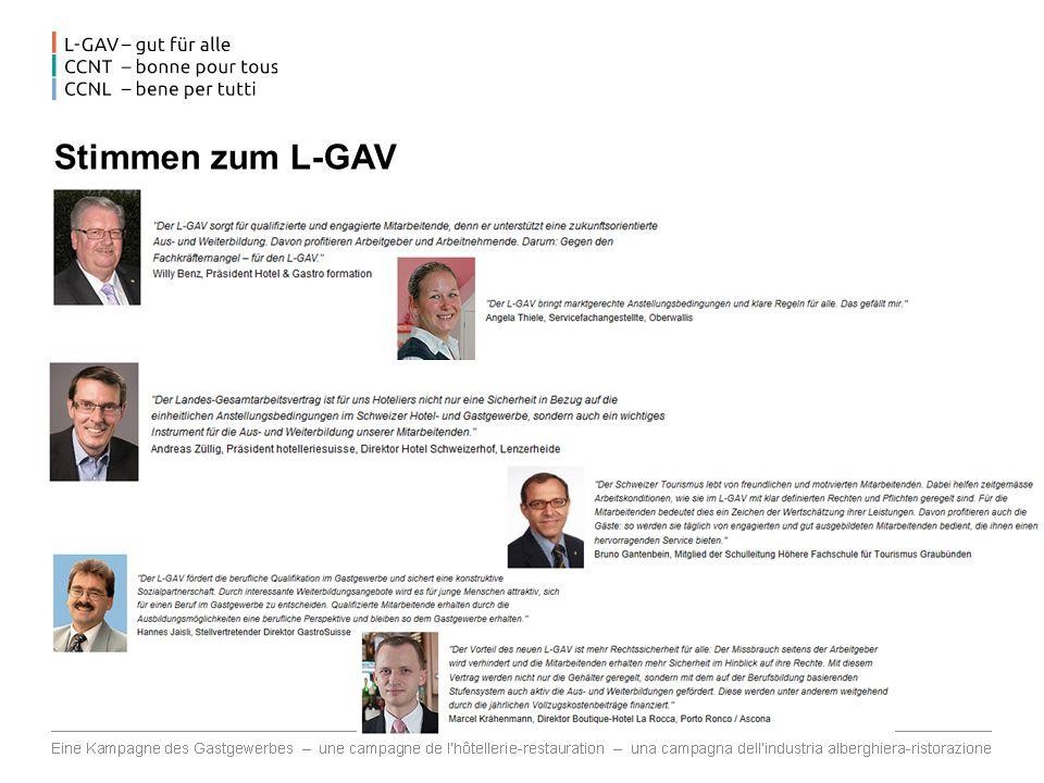 Stimmen zum L-GAV