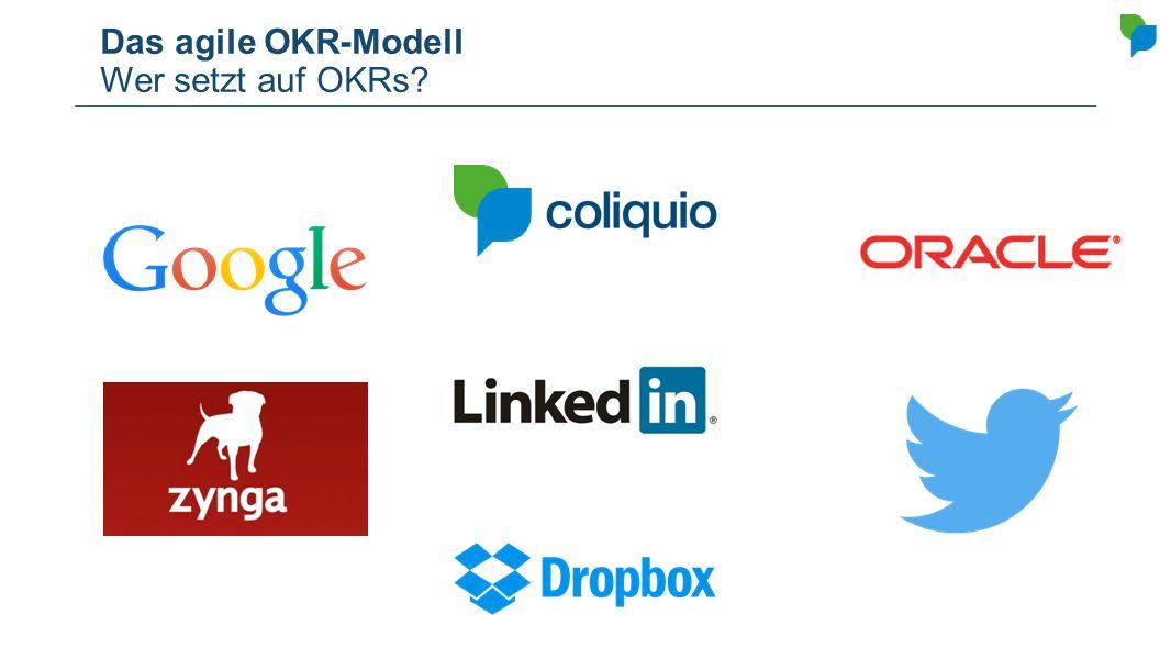 Das agile OKR-Modell Wer setzt auf OKRs?