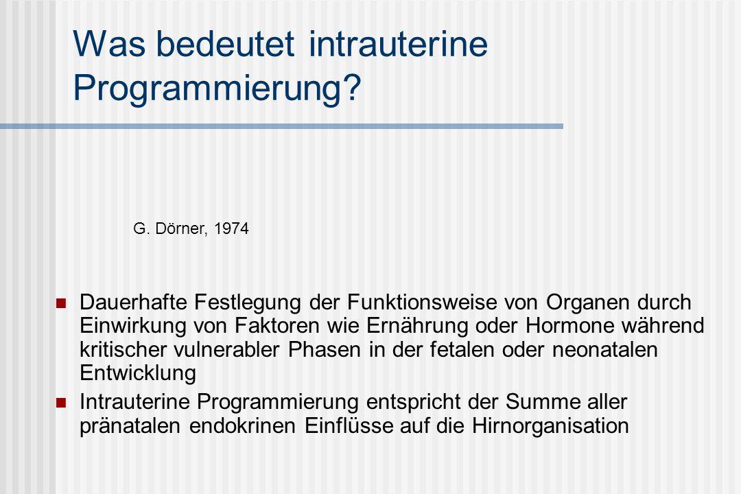 Was bedeutet intrauterine Programmierung.