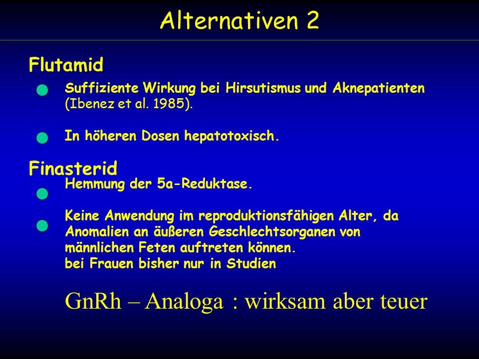 Alternativen 2 Flutamid Suffiziente Wirkung bei Hirsutismus und Aknepatienten (Ibenez et al.