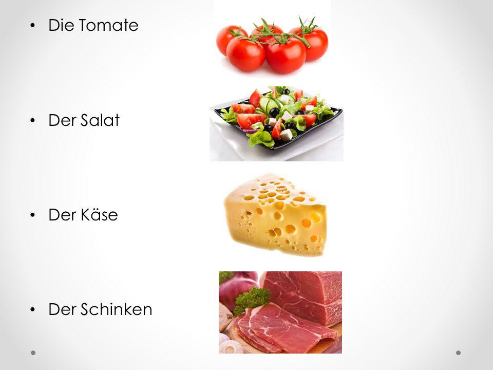 Die Tomate Der Salat Der Käse Der Schinken