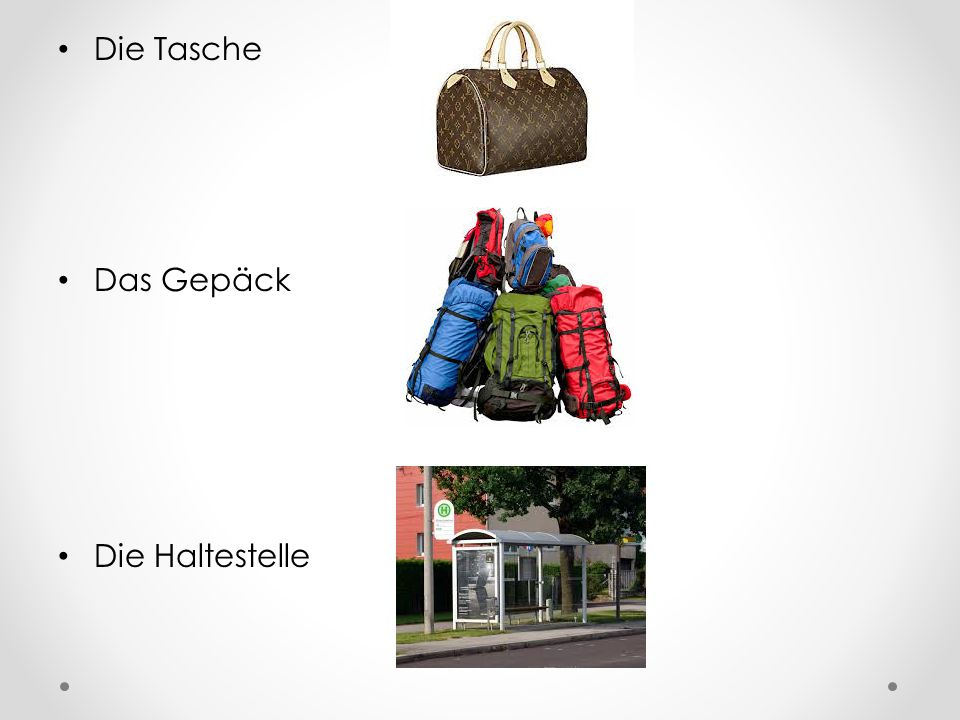 Die Tasche Das Gepäck Die Haltestelle