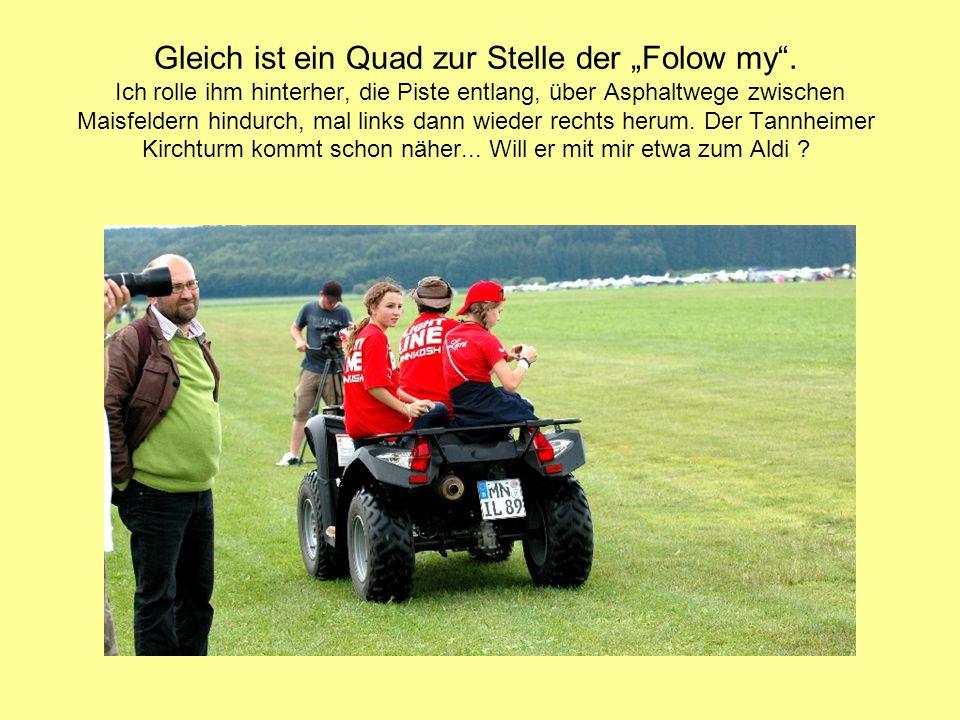 Hinter dem Maisfeld steht die Schweizer Staffel völlig autark, mit großem Begleitfahrzeug und Stromgenerator.