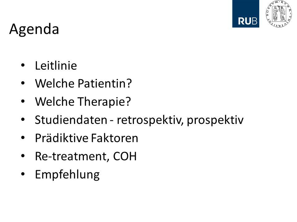 Agenda Leitlinie Welche Patientin.Welche Therapie.