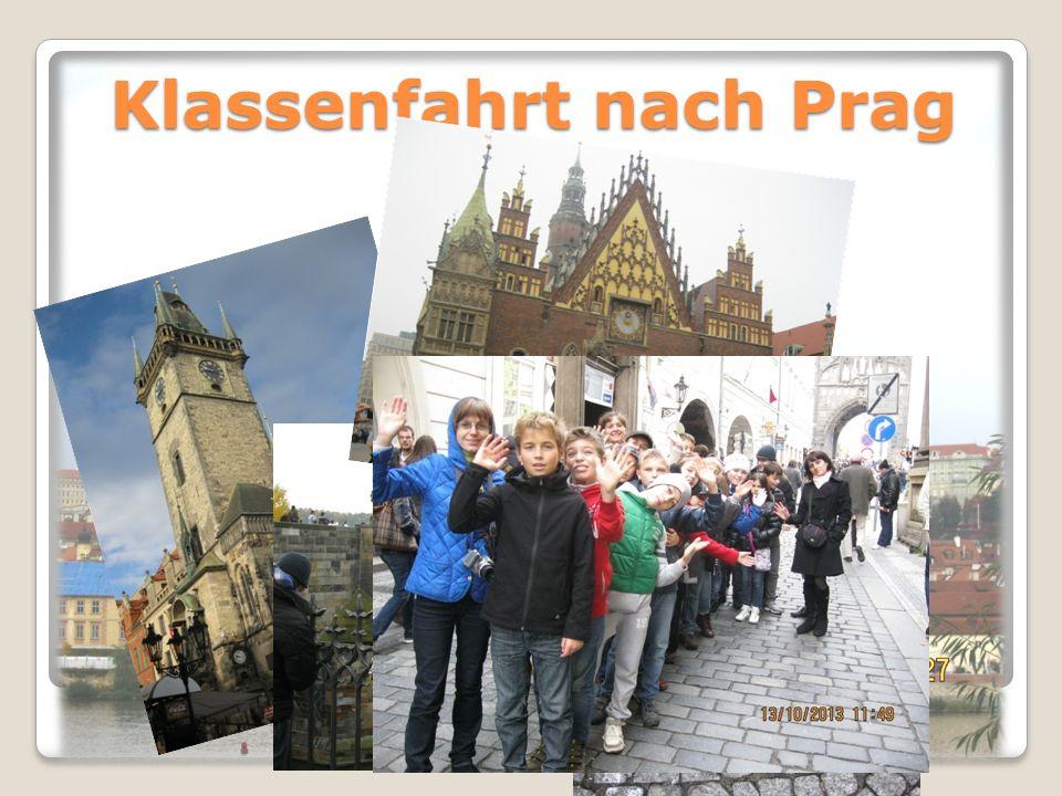 Klassenfahrt nach Prag