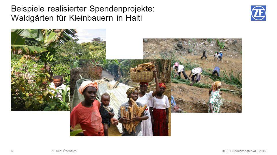 © ZF Friedrichshafen AG, 20156ZF hilft, Öffentlich Beispiele realisierter Spendenprojekte: Waldgärten für Kleinbauern in Haiti