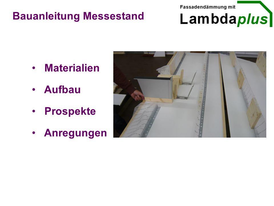 Materialien Aufbau Prospekte Bauanleitung Messestand Anregungen