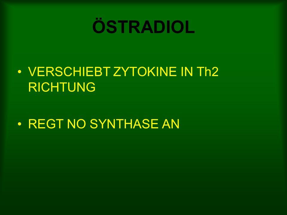 ÖSTRADIOL VERSCHIEBT ZYTOKINE IN Th2 RICHTUNG REGT NO SYNTHASE AN