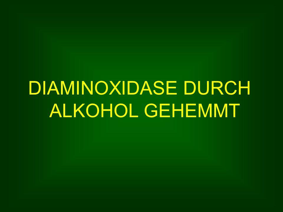 DIAMINOXIDASE DURCH ALKOHOL GEHEMMT