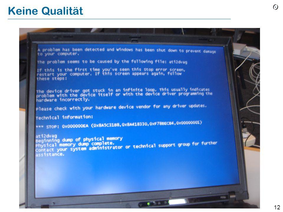 11 Software-Engineering Was heisst Qualität bei Software?