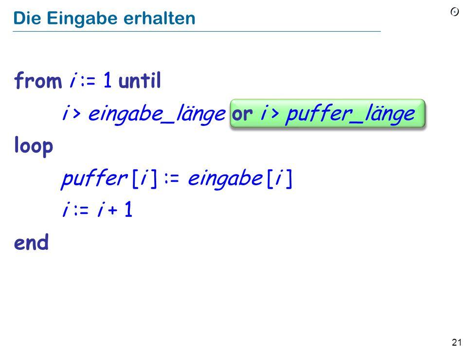 """Ein überlaufender Puffer! Daten """"Der Stapel"""" 0 Programm Max Routine 1 Routine 2 … Rücksprung- adresse, Argumente, lokale Variablen Routine n Mein böse"""