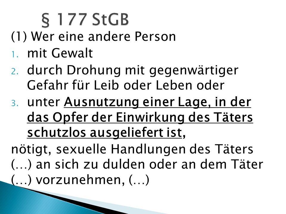  Kritik an § 177 StGB