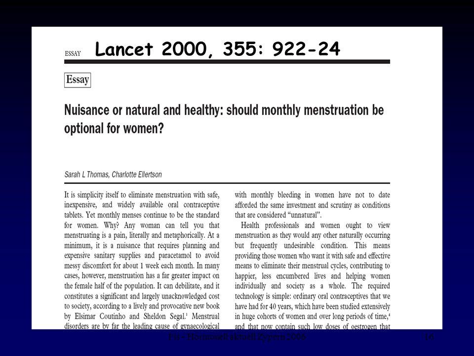 Fis - Hormonell aktuell Zypern 200616 Lancet 2000, 355: 922-24