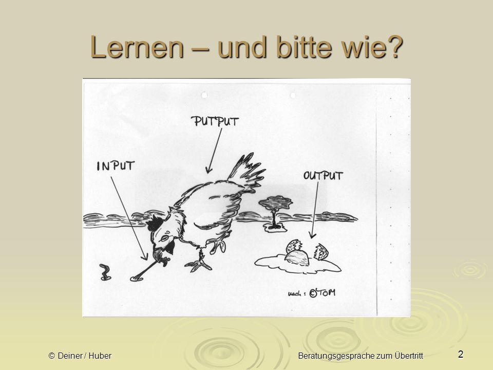 © Deiner / Huber Beratungsgespräche zum Übertritt 23 8.