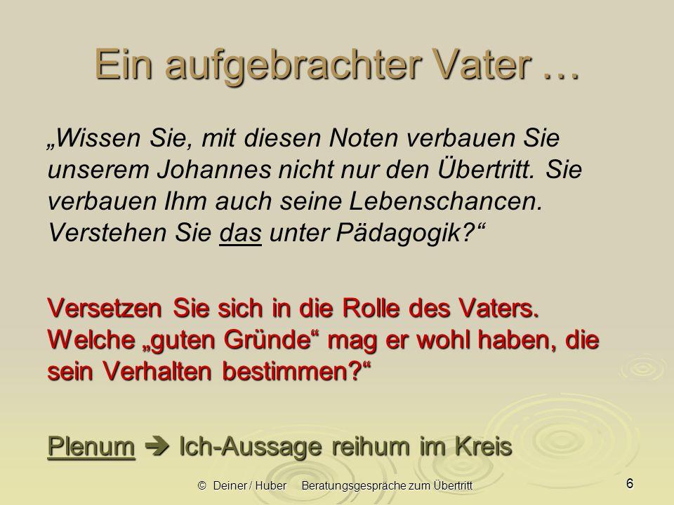 © Deiner / Huber Beratungsgespräche zum Übertritt 17 2.