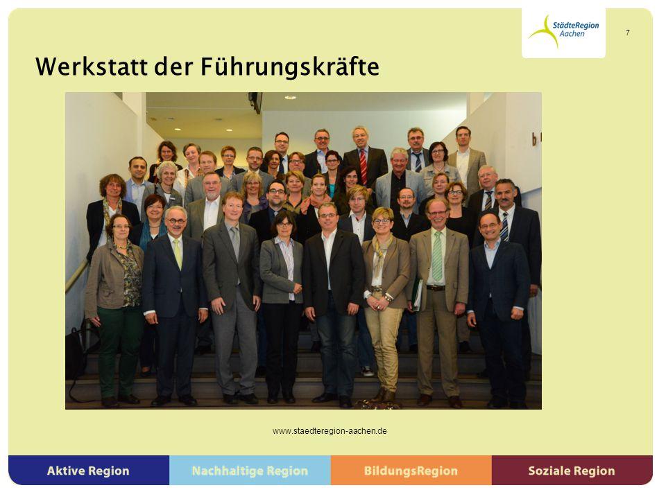 Werkstatt der Führungskräfte www.staedteregion-aachen.de 8