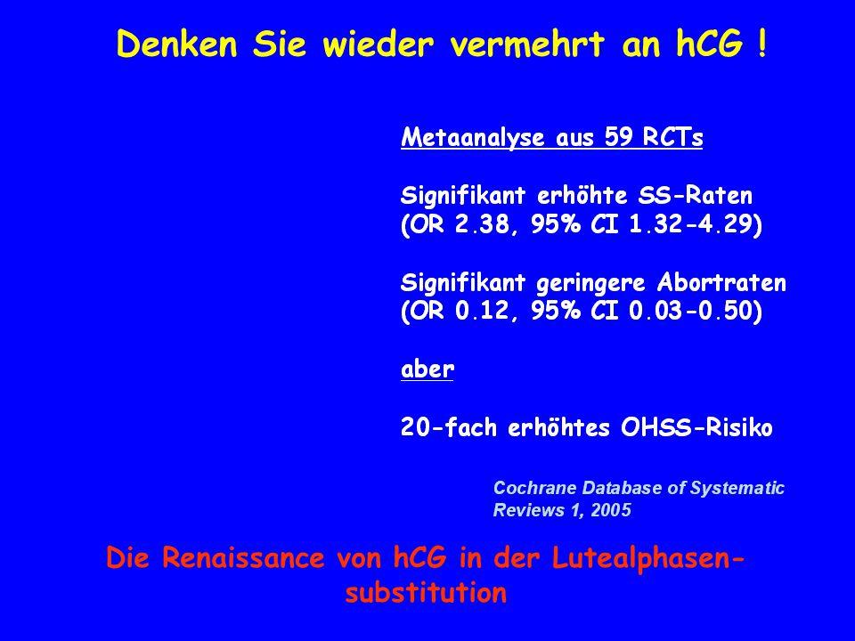 Denken Sie wieder vermehrt an hCG ! Die Renaissance von hCG in der Lutealphasen- substitution