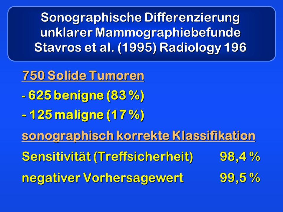 Sonographische Differenzierung unklarer Mammographiebefunde Stavros et al.