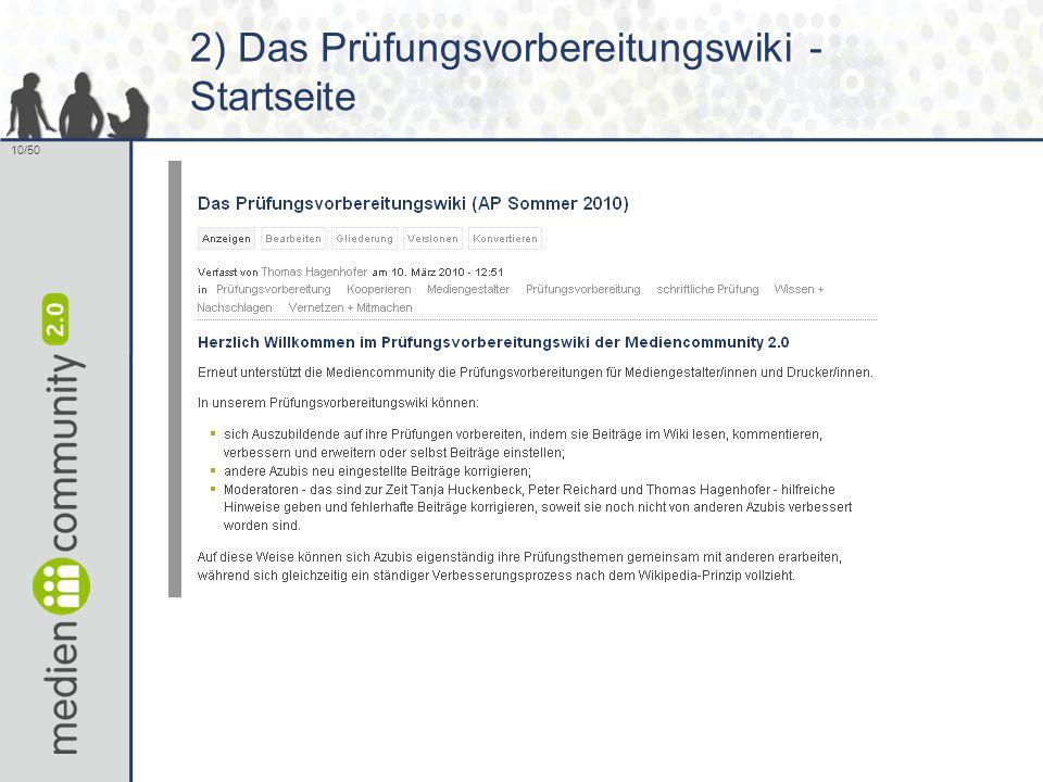 10/50 2) Das Prüfungsvorbereitungswiki - Startseite