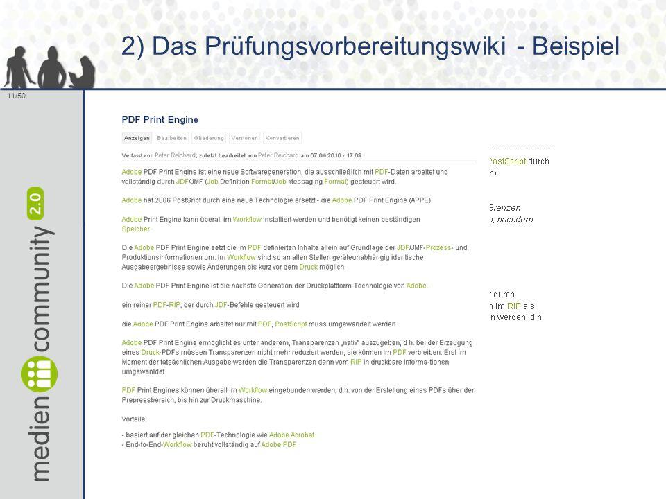 11/50 2) Das Prüfungsvorbereitungswiki - Beispiel