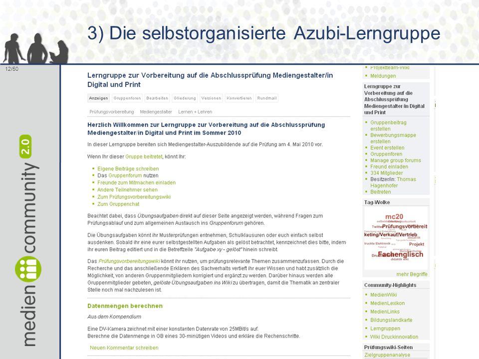 12/50 3) Die selbstorganisierte Azubi-Lerngruppe