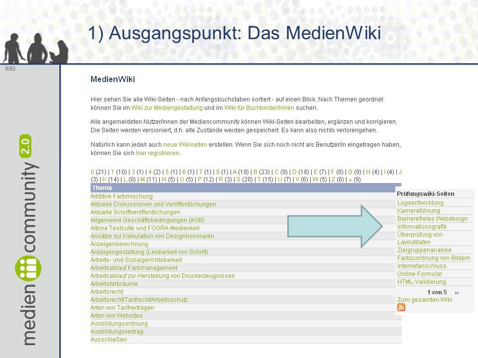 9/50 1) Ausgangspunkt: Das MedienWiki