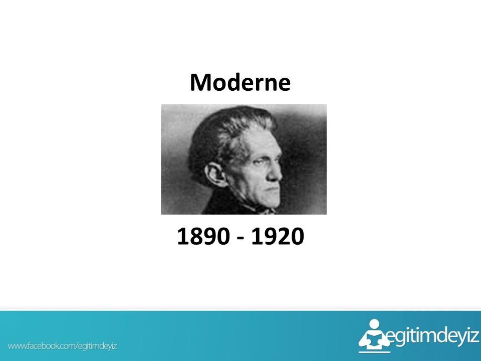Moderne 1890 - 1920