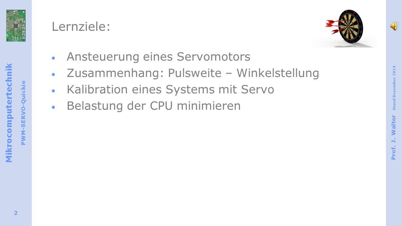 Mikrocomputertechnik PWM-SERVO-Quickie Prof. J.