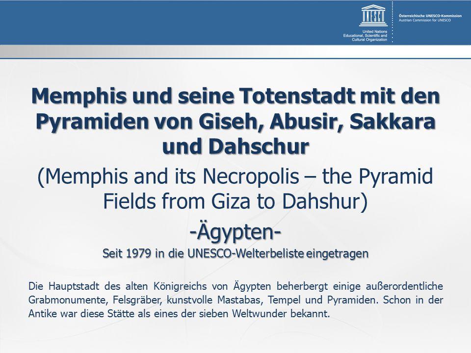 Memphis und seine Totenstadt mit den Pyramiden von Giseh, Abusir, Sakkara und Dahschur (Memphis and its Necropolis – the Pyramid Fields from Giza to D
