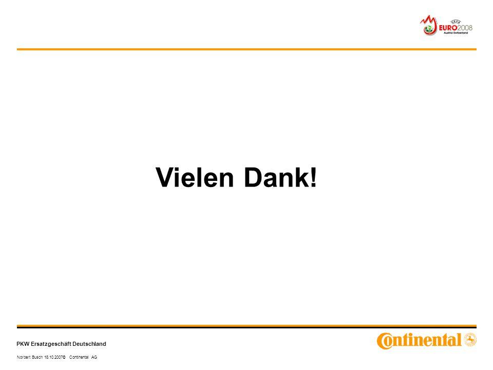 PKW Ersatzgeschäft Deutschland Norbert Busch 18.10.2007© Continental AG Vielen Dank!