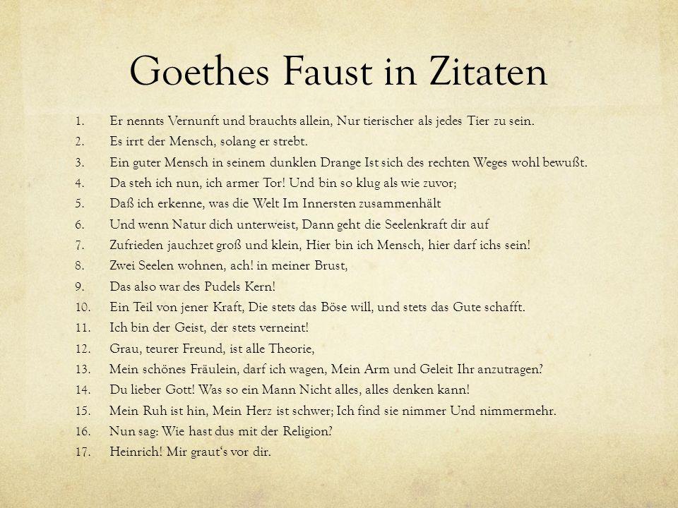 Goethes Faust in Zitaten 1.