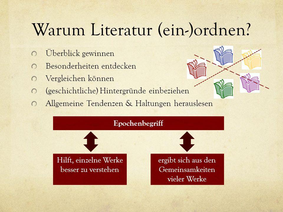 Warum Literatur (ein-)ordnen.