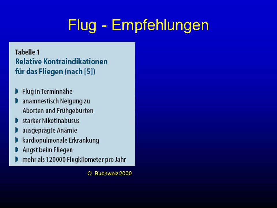 Flug - Empfehlungen O. Buchweiz 2000