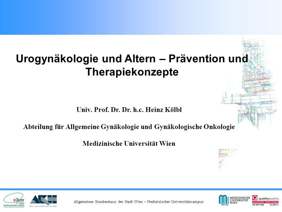 Allgemeines Krankenhaus der Stadt Wien – Medizinischer Universitätscampus Reasons for discontinuing antimuscarinic medication for OAB Benner JS, et al.
