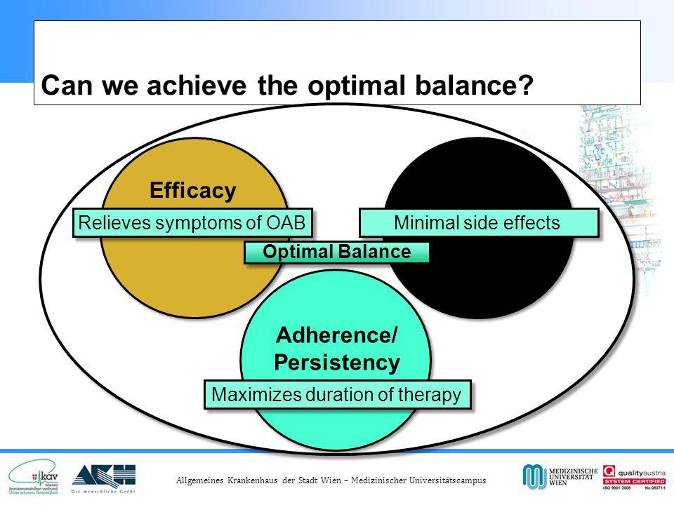 Allgemeines Krankenhaus der Stadt Wien – Medizinischer Universitätscampus Can we achieve the optimal balance.