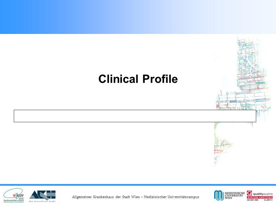 Allgemeines Krankenhaus der Stadt Wien – Medizinischer Universitätscampus Clinical Profile