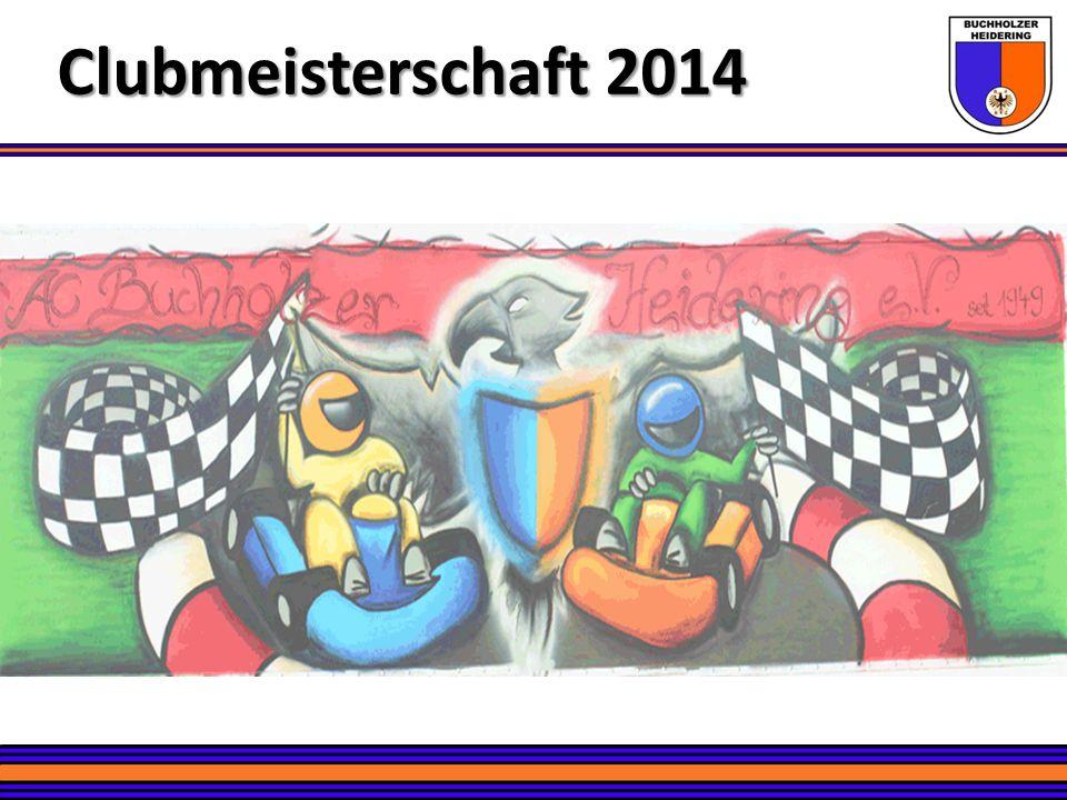Platz 11 – Julius Wichmann Clubmeisterschaft 2014 Kartslalom – Altersklasse K2 Kart-Racing – NOP Klasse K3 19 Rennen 4 Podiumsplatzierungen 2x 6.