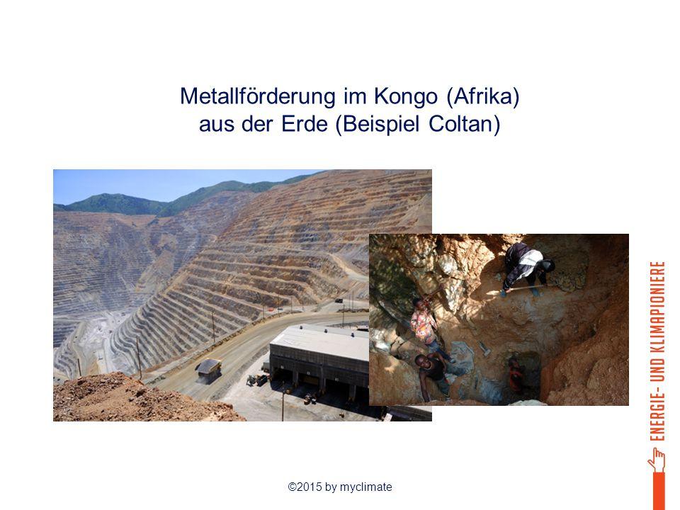 ©2015 by myclimate Herstellung Transport Verkauf & Lagerung Entsorgung Rohstoffgewinnung Metallförderung im Kongo (Afrika) aus der Erde (Beispiel Coltan)