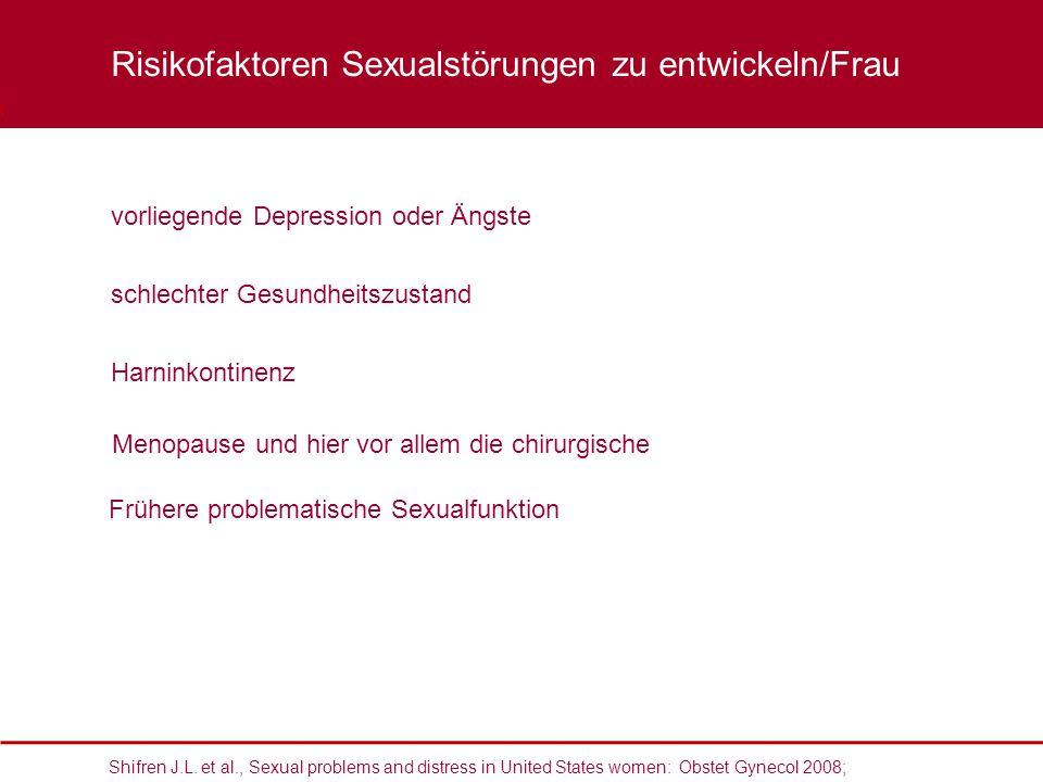 Shifren J.L. et al., Sexual problems and distress in United States women: Obstet Gynecol 2008; vorliegende Depression oder Ängste schlechter Gesundhei