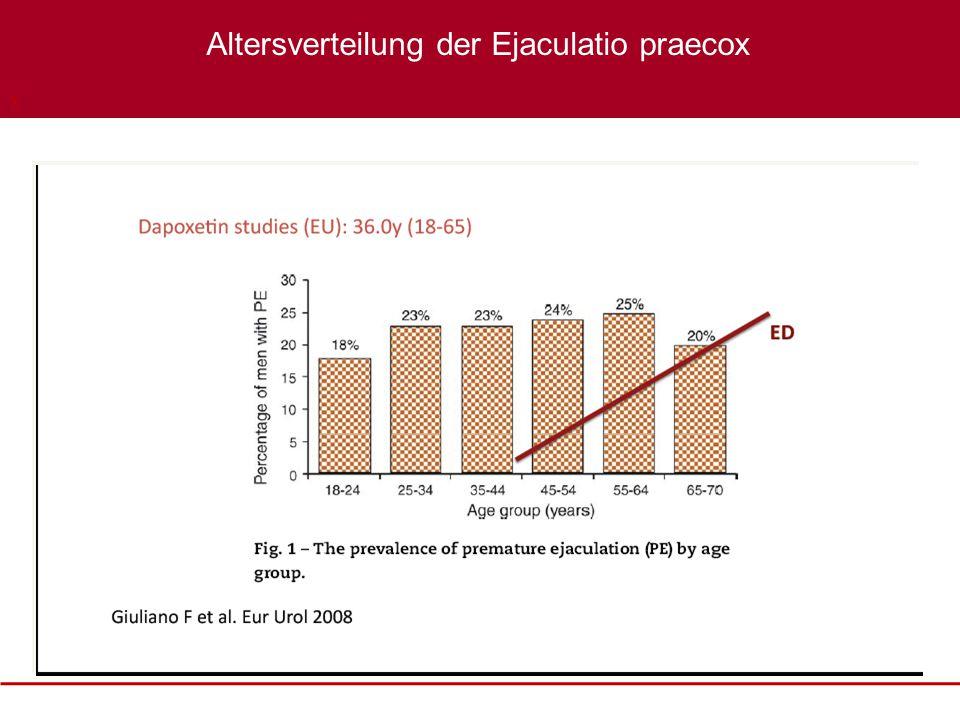 XXXX Altersverteilung der Ejaculatio praecox