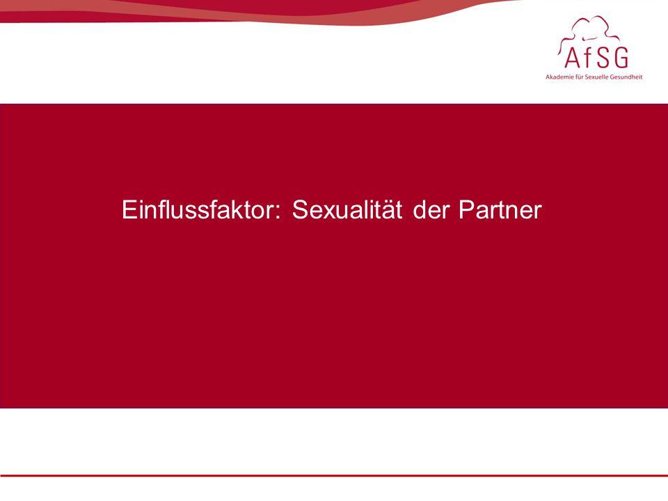 Sexualmedizin: erektile Dysfunktion im Fokus, 22. – 23. Oktober 2010 Einflussfaktor: Sexualität der Partner