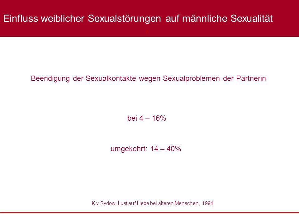 Beendigung der Sexualkontakte wegen Sexualproblemen der Partnerin K v Sydow, Lust auf Liebe bei älteren Menschen, 1994 XXXX Einfluss weiblicher Sexual