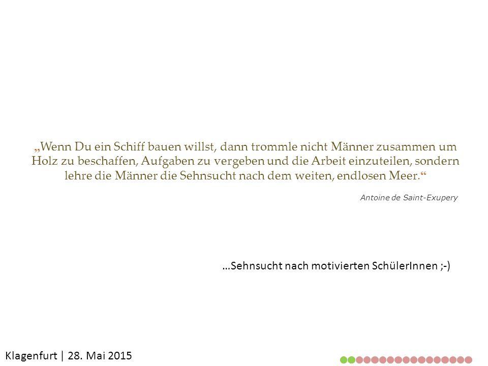Klagenfurt | 28. Mai 2015 Ausgangssituation