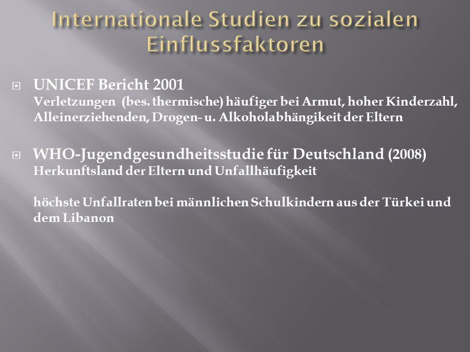  UNICEF Bericht 2001 Verletzungen (bes.