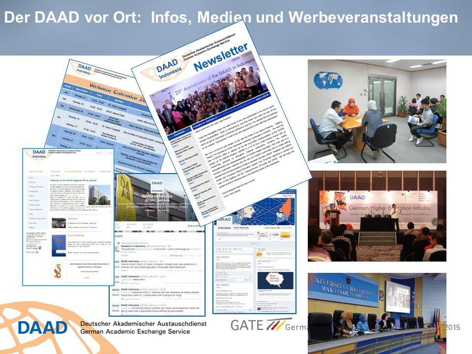 Der DAAD vor Ort: Infos, Medien und Werbeveranstaltungen