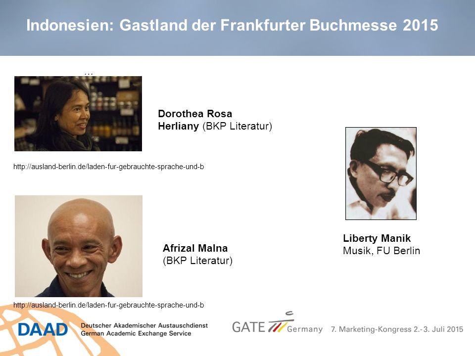 Indonesien: Gastland der Frankfurter Buchmesse 2015 … … http://ausland-berlin.de/laden-fur-gebrauchte-sprache-und-b Dorothea Rosa Herliany (BKP Litera